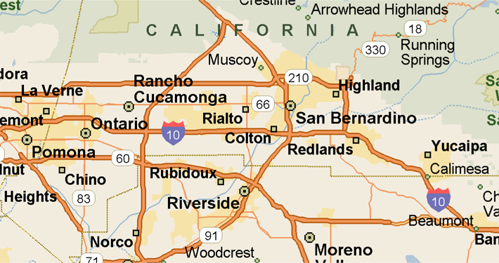 Map Of San Bernardino County Tablesportsdirect - Map of san bernardino county
